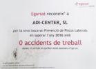 Cero accidentes de trabajo en ADI Center Spain